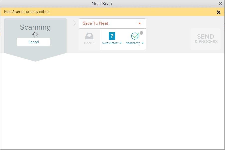 Neat Lightweight App Offline Scanning - Step 2