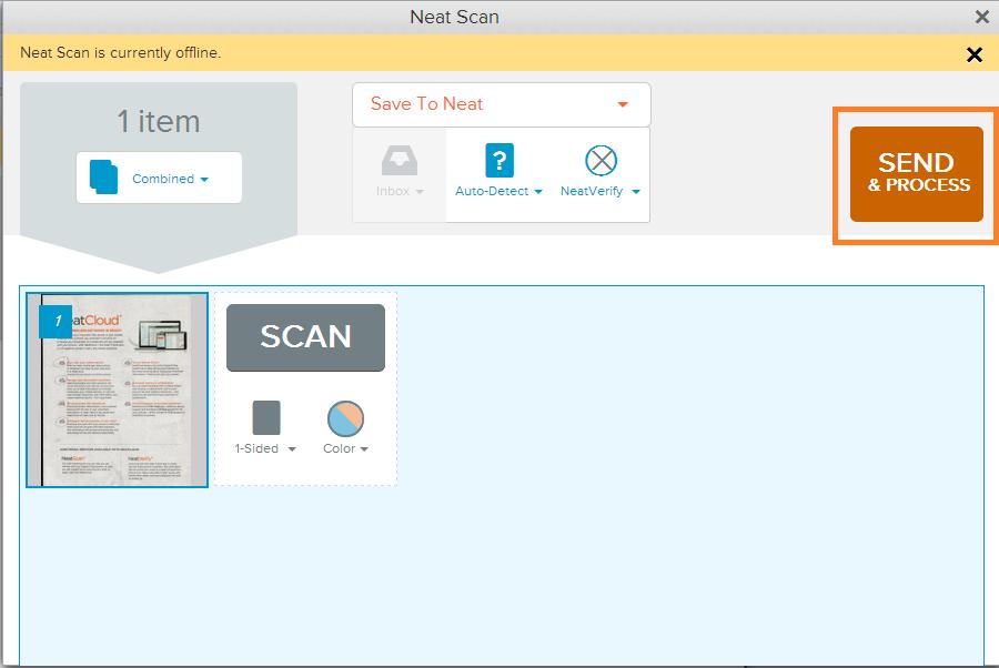 Neat Lightweight App Offline Scanning - Step 3