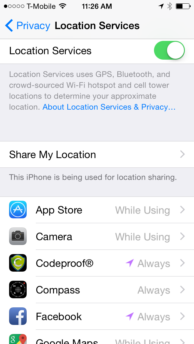 Enable location Service in iOS 8