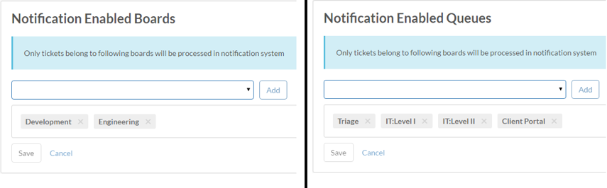 3. Enable Notifications on select boards/queues