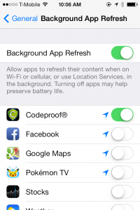 Background App Refresh in iOS7
