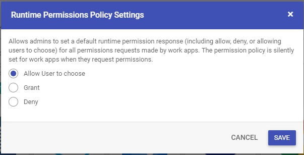 Runtime Permissions