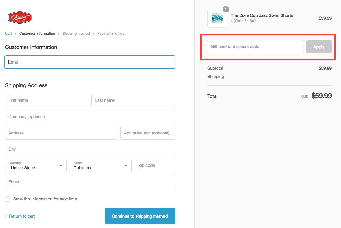Customer Info Example
