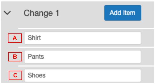 Change Item Order Reverse