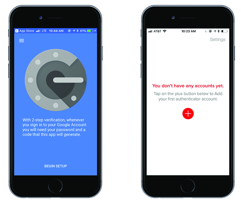 Google Authenticator and Authy