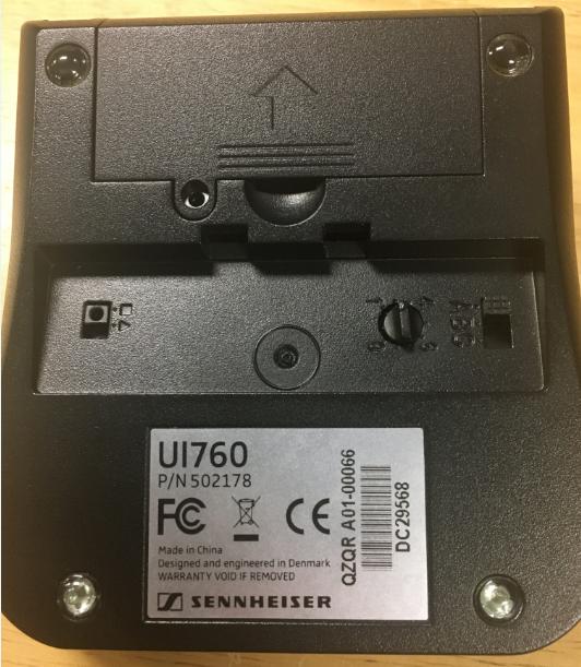 bottom of leitner headset base