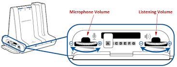 Microphone/Listening Volume Button on Plantronics Savi W740