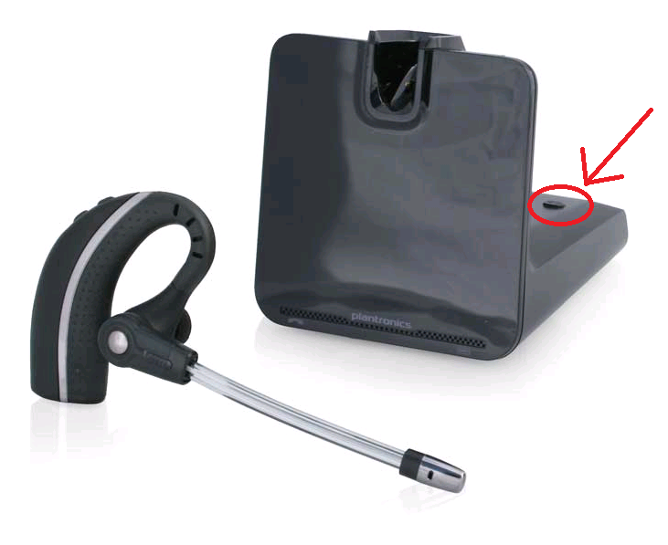 Plantronics CS500 headset and base