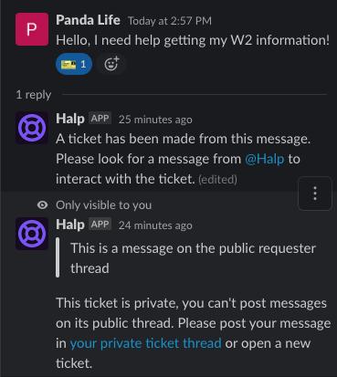 Public requester thread in sensitive queue