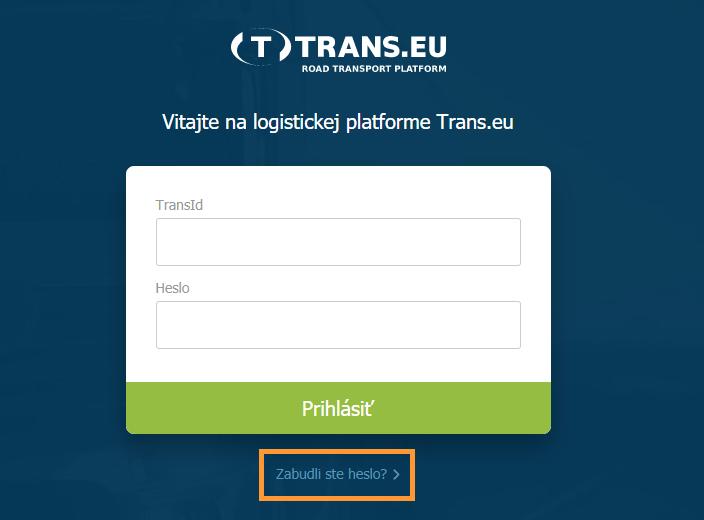 Prihlásenie Trans.eu