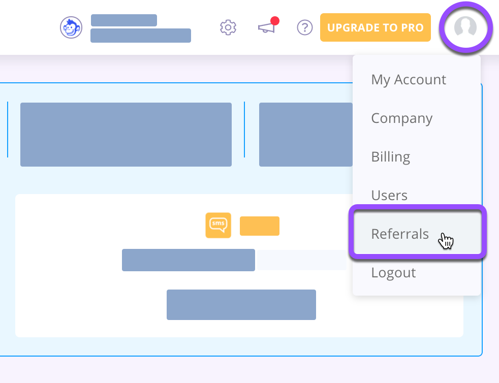 account referrals access for affiliate signup