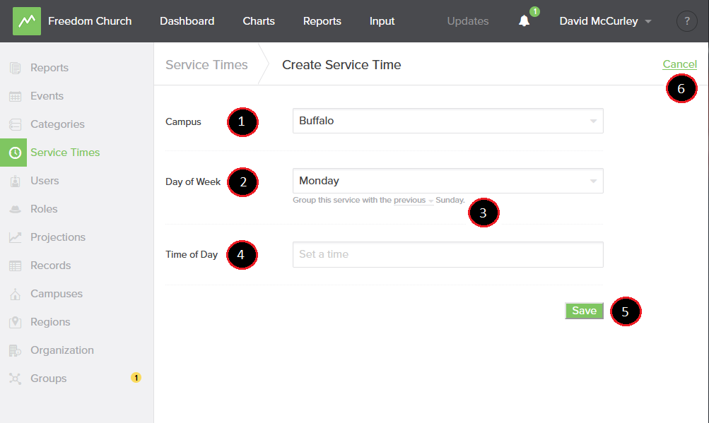 Add Service Time Options