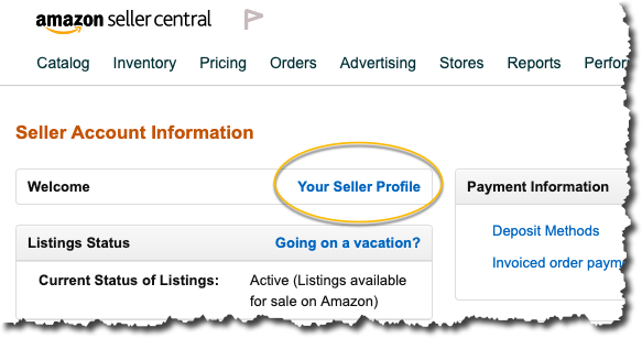 Amazon user profile link