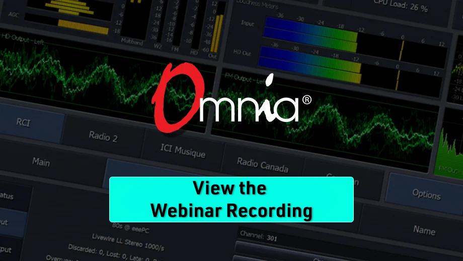 Watch the Omnia Webinar