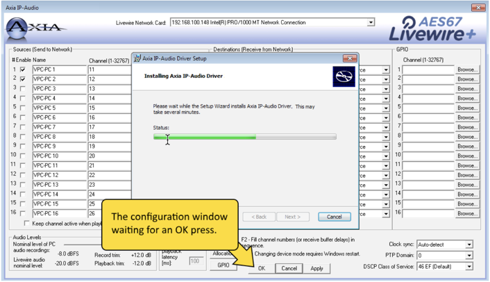 Axia IP-Driver version 2 11 0 10 release and install