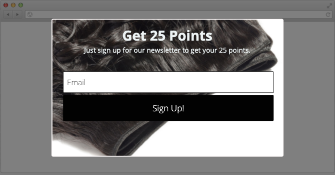 Sign up to SL Raw Virgin Hair Newsletter to earn 25 rewards points