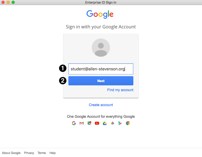 Adobe Google Login Screen