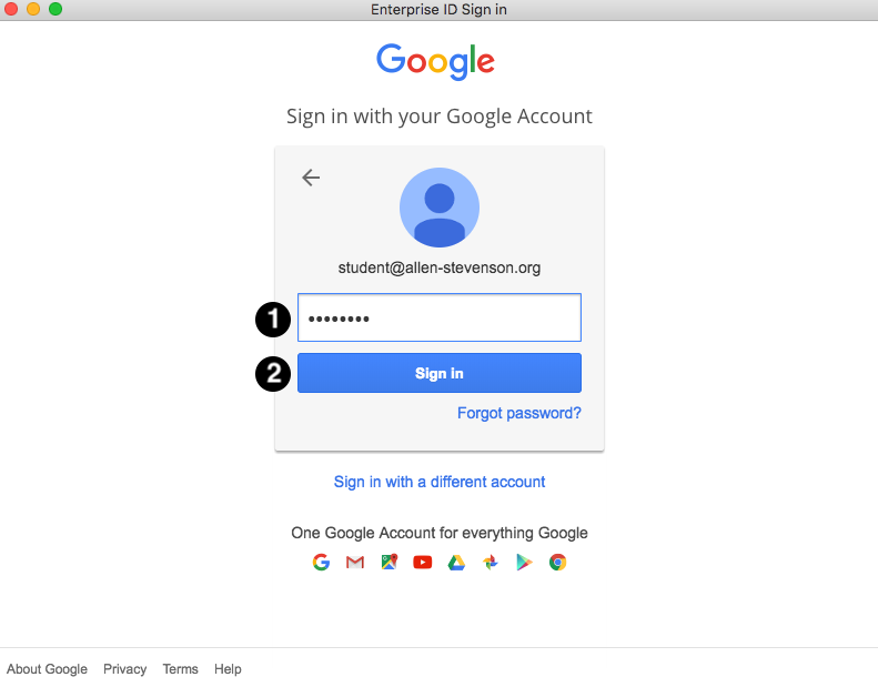 Adobe Google Login Password Screen