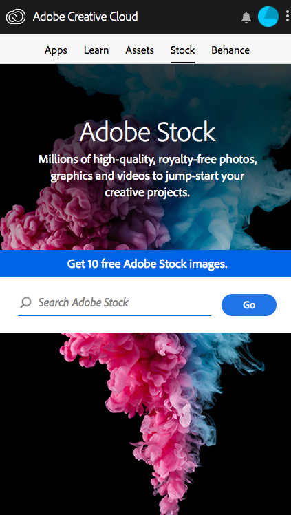 Adobe Creative Cloud Successful Login