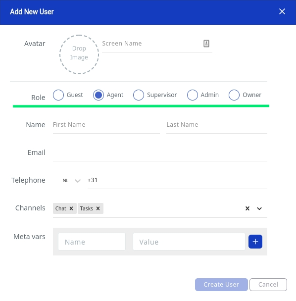 Web1on1 Add user - manage users