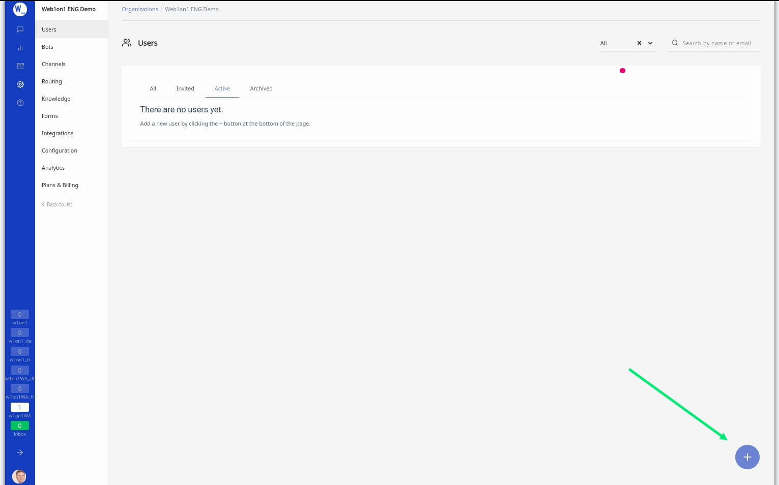Web1on1 AMP - Adding a user