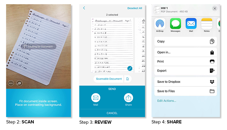 How to use Scannable on iOS devices to scan written work