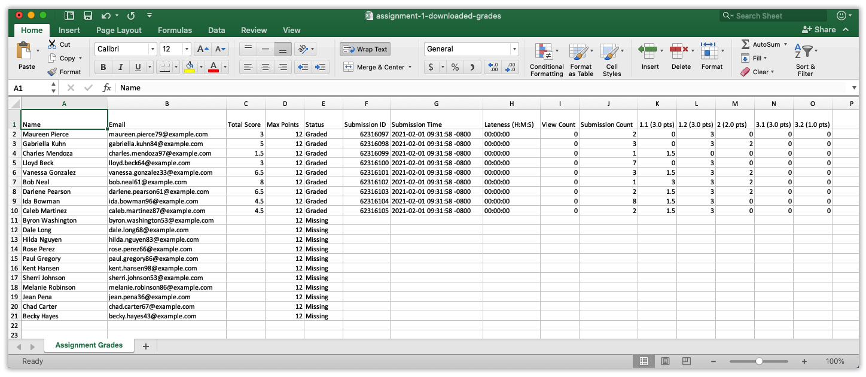download grades spreadsheet