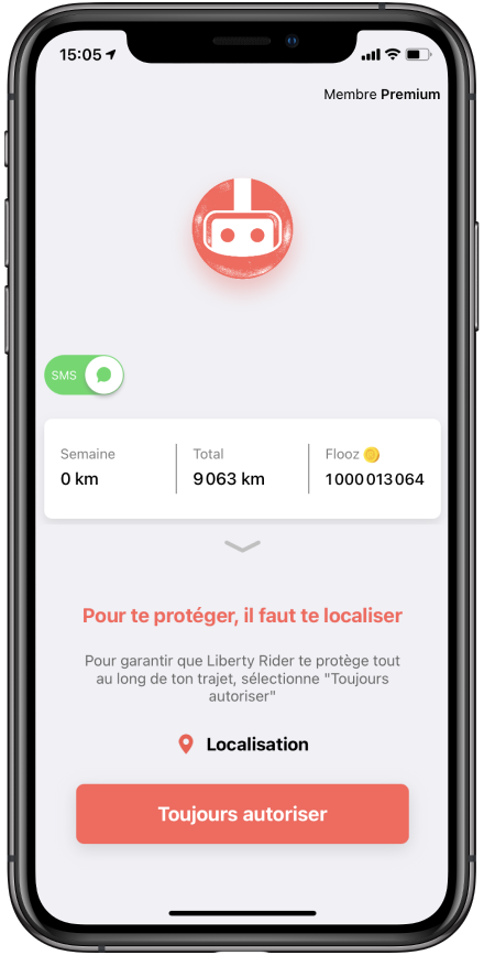 pop up toujours aotirsation iOS