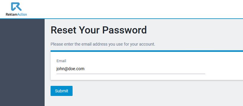 reklamstore affiliate forgot password